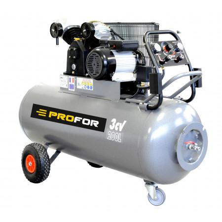 Compresseur A Courroie Tri Cylindre 200l 5 5 Cv