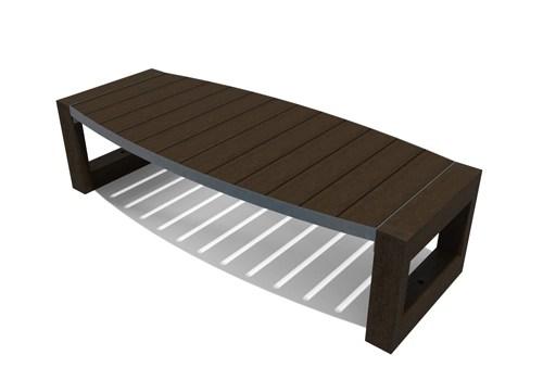 Table basse ovale escapade en plastique recyclé et ossature métal - Table basse ovale ESCAPADE ESPACE URBAIN