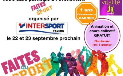 22 et 23 septembre – Week-end de sport et d'animations !