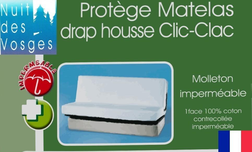 Protege Matelas Impermeabilise Forme Drap Housse Pour Clic Clac Ref Celine