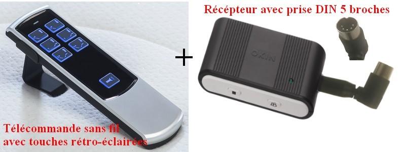 Telecommande Sans Fil 6 Boutons Pour Literie Electrique Tpr
