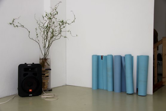 Vue exposition Joyfully Waiting, Avril 2018, Natalie Rebolz