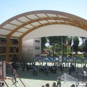 Cubierta tensada Multicancha Colegio Juan Pablo 2