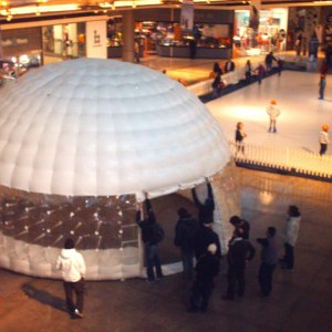 Estructura neumatica Domo Inflable 7m Mall Sport