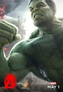 Póster de Hulk para Vengadores: La Era de Ultrón