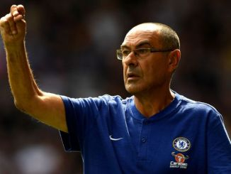 Maurizio Sarri, durante un partido con el Chelsea