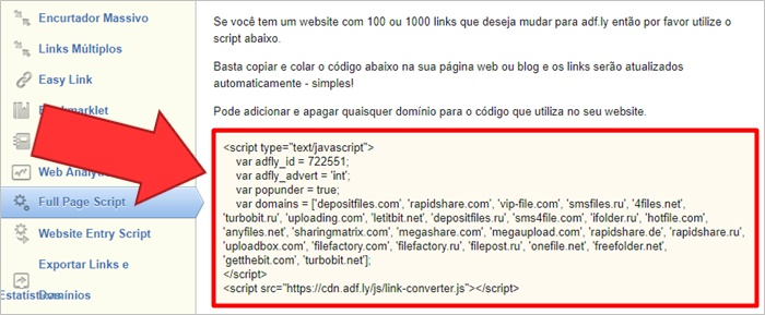 como colocar adf.ly no blog