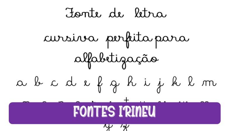 Fonte de letra cursiva perfeita para  atividades de alfabetização