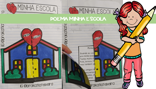 Poema interativo Minha escola. Volta às aulas 2020.