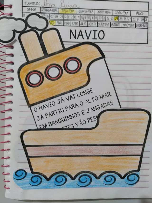 Leitura divertida palavra navio.