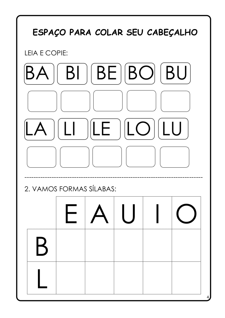 APOSTILA-DE-ALFABETIZAÇÃ-PARA-BAIXAR-04 14 Atividades de alfabetização letra B