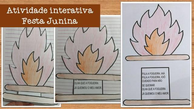 Atividade interativa festa junina