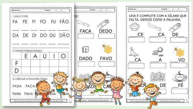 Projeto de  alfabetização palavra fada