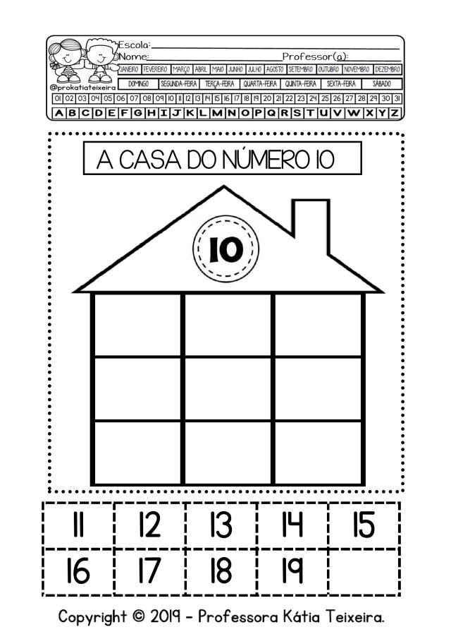 Matemática família dos números com 9 páginas
