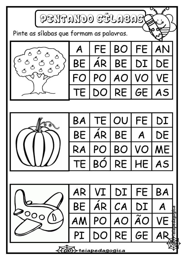 Atividades de alfabetização letra A