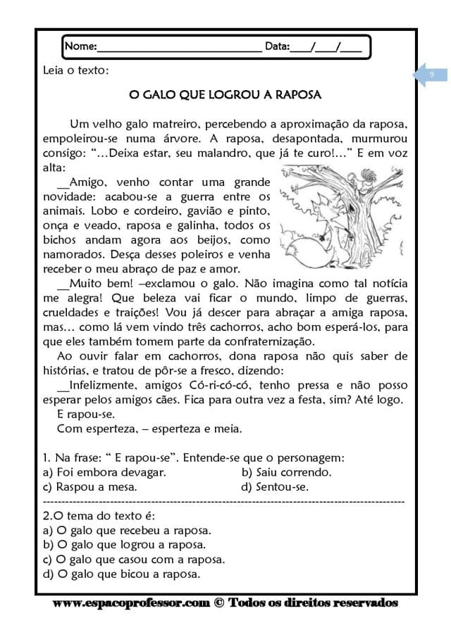 Caderno-de-Leitura-e-Interpretação-de-textos-ciclo-complementar-page-009 20 Atividades de leitura e interpretação para o 5º ano