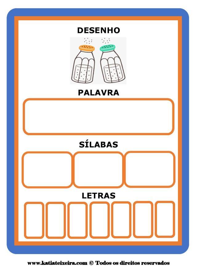 Jogo consciência fonológica para imprimir