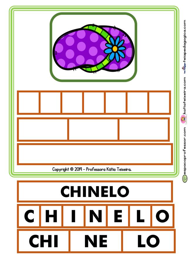 15 fichas para jogos fonológicos