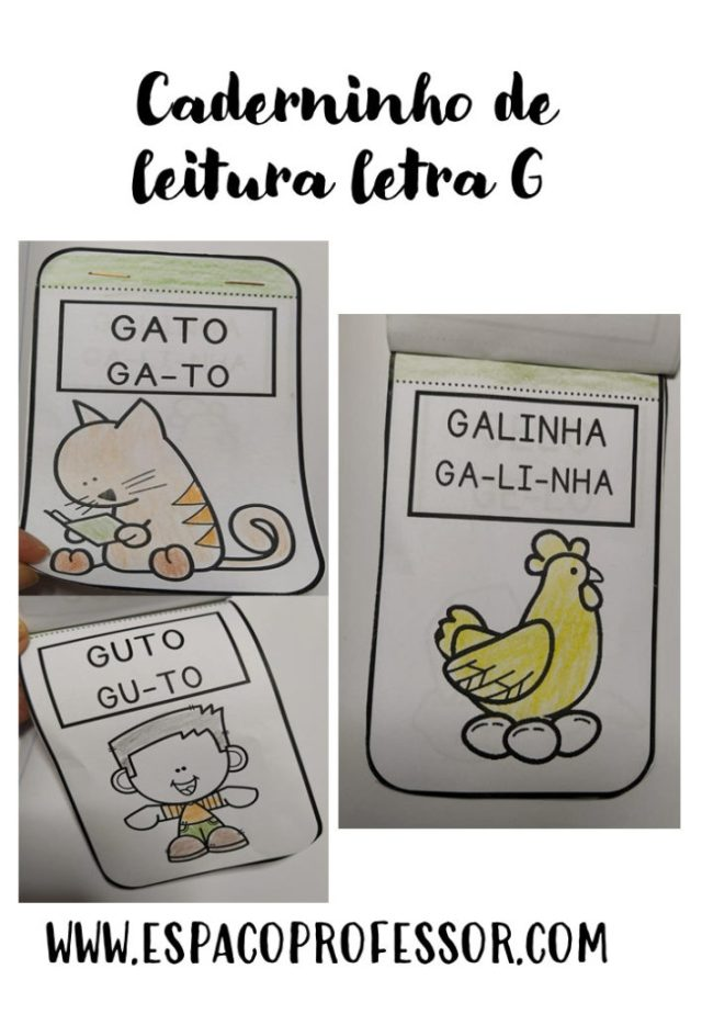 Letra G interativa Gato escondido