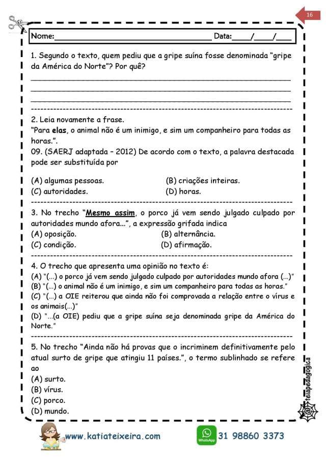 Novo-caderno-Leitura-e-interpreta-4-e-5-page-016 20 Atividades de leitura e interpretação para o 5º ano