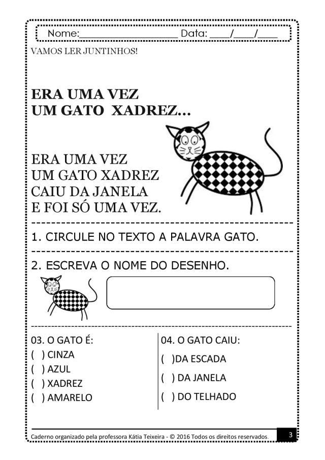 PROJETO-DE-AL-PALAVRA-GATO-page-003 Atividades para baixar projeto de alfabetização palavra  gato
