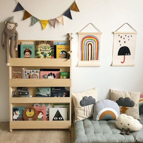 Sugestões-para-cantinhos-de-leitura-11 30 Sugestões para cantinhos de leitura em casa ou na escola