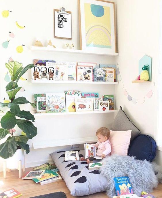 Sugestões-para-cantinhos-de-leitura-14 30 Sugestões para cantinhos de leitura em casa ou na escola