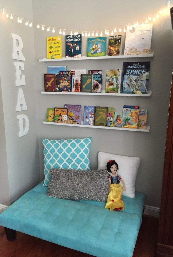 Sugestões-para-cantinhos-de-leitura-8 30 Sugestões para cantinhos de leitura em casa ou na escola