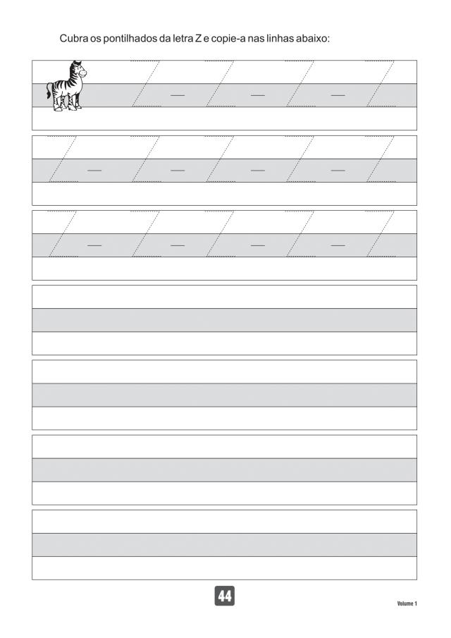 VOLUME1-44 49 Atividades de caligrafia letra bastão
