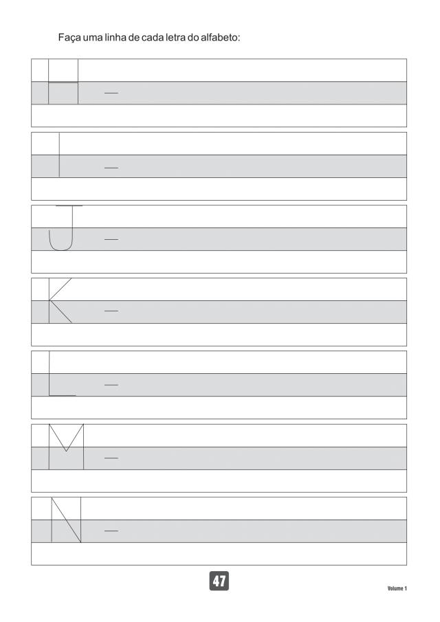 VOLUME1-47 49 Atividades de caligrafia letra bastão