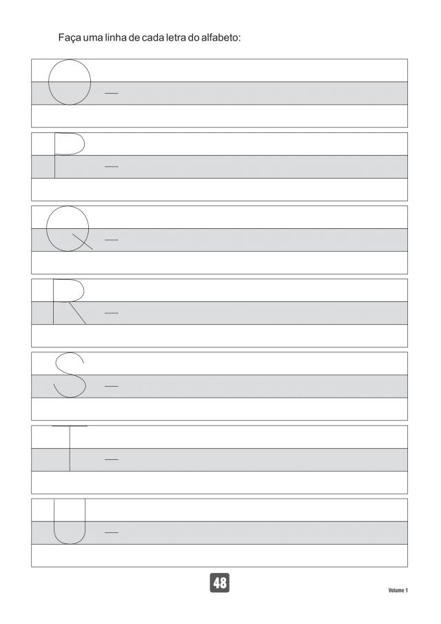 VOLUME1-48 49 Atividades de caligrafia letra bastão