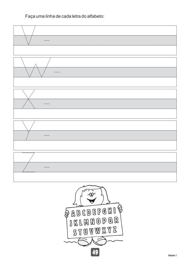 VOLUME1-49 49 Atividades de caligrafia letra bastão