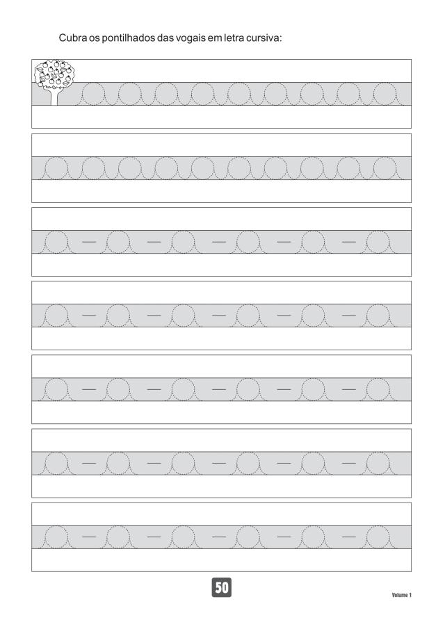 VOLUME1-50 49 Atividades de caligrafia letra bastão