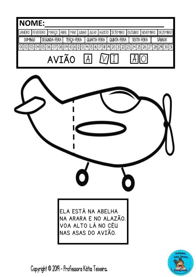 Atividades de Alfabetização interativa letra A. Atividade vogal A