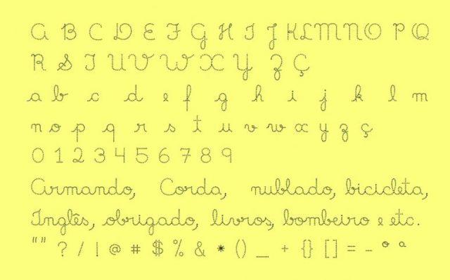 imgFotos801755 Fonte de letra cursiva perfeita para  atividades de alfabetização