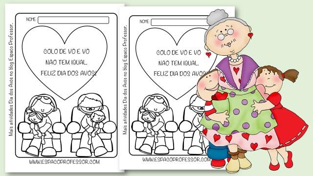 Atividades sobre o dia dos avós para colorir