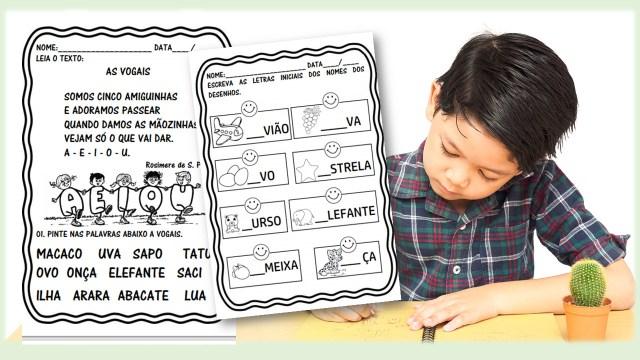 Atividades para trabalhar com as vogais