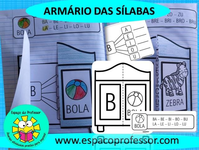 Atividade lúdica para ensinar as sílabas simples