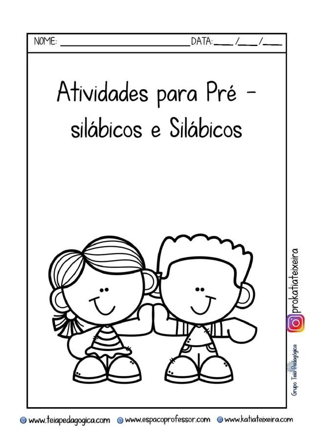 Atividades  Dia dos pais para pré-silábicos e silábicos