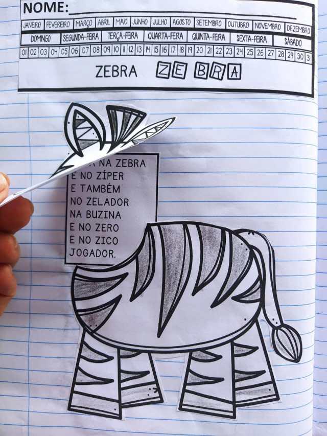Textos interativos de A a Z para alfabetização