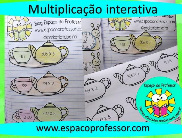 Atividade interativa de multiplicação - 3º ou 4º ano