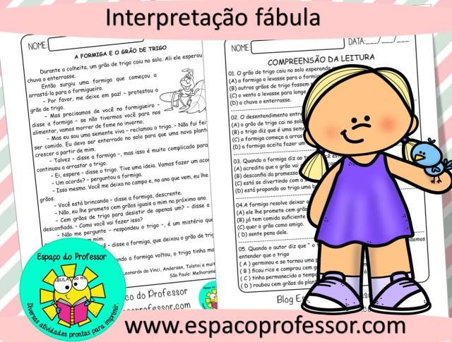 Leitura e interpretação de texto 4º ano para imprimir