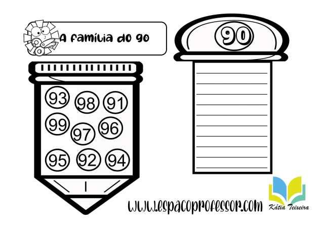 Atividades interativas para alfabetização: Números de 0 a 100