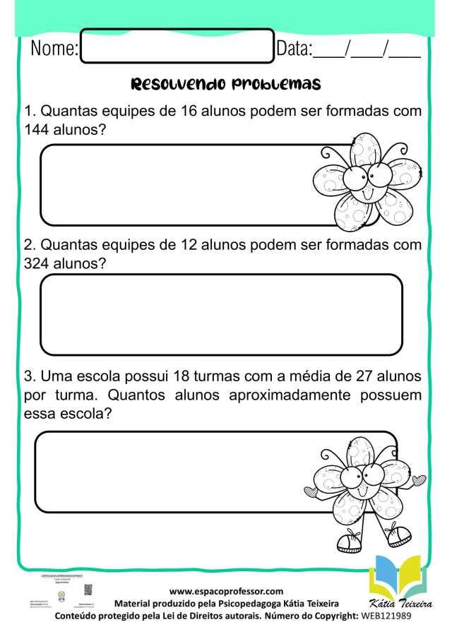 Atividades de matemática 4º ano - Situações - problema 4º ano para baixar