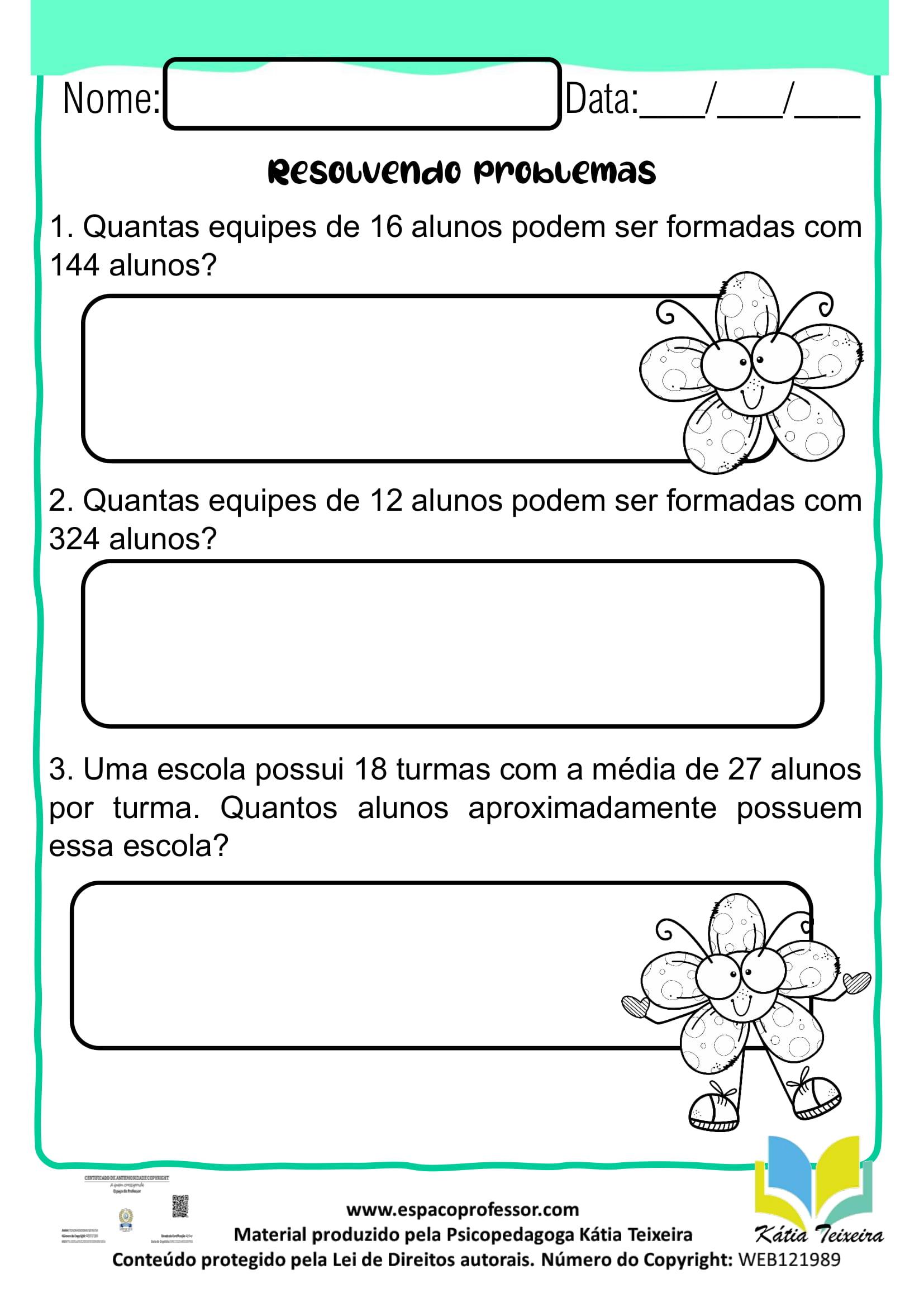 Atividades De Matematica 4º Ano Situacoes Problema 4º Ano Para Baixar