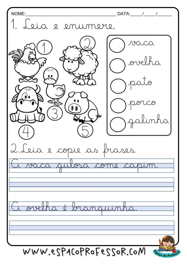 Atividades de caligrafia para alfabetização para imprimir
