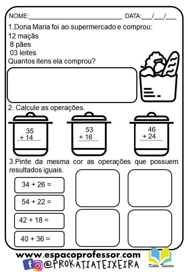 Atividades 2º ano alfabetização matemática prontas para imprimir