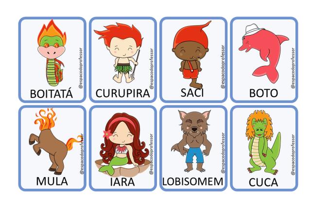Atividades de Alfabetização Folclore 1º ano