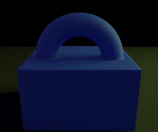 En la zona de choque entre geometrías ahora parece que estuvieran de alguna froma conectadas.