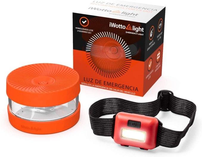 iWotto E light V 16 Llum Emergència homologada / autoritzada Cotxe + Llanterna llum Frontal